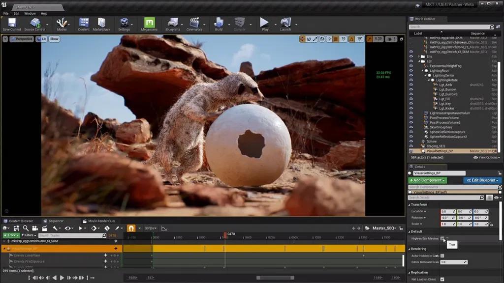 meekrak fur 1-unreal engine real time virtual animation - Unreal Engine - Vietnam Asian best 3D real time virtual production animation studio