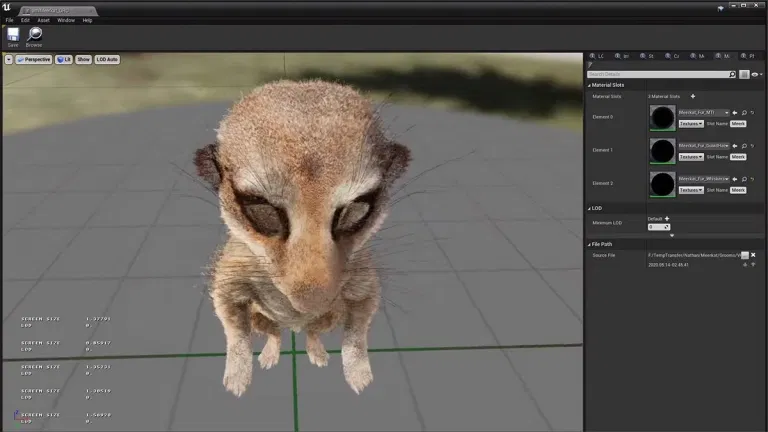 meekrak fur 2-unreal engine real time virtual animation - Unreal Engine - Vietnam Asian best 3D real time virtual production animation studio