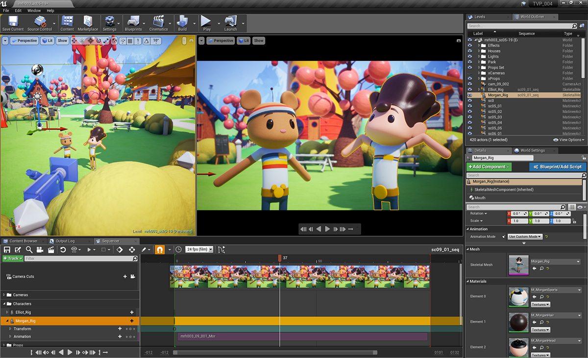 morgan rocket house production-unreal engine real time virtual animation - Unreal Engine - Vietnam Asian best 3D real time virtual production animation studio
